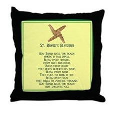 IRISH BLESSINGS- ST. BRIGID Throw Pillow