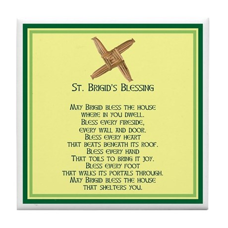IRISH BLESSINGS- ST. BRIGID Tile Coaster