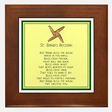IRISH BLESSINGS- ST. BRIGID Framed Tile