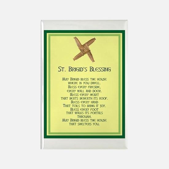 IRISH BLESSINGS- ST. BRIGID Rectangle Magnet