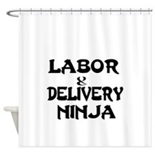 Labor Delivery Ninja Shower Curtain