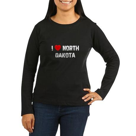 I * North Dakota Women's Long Sleeve Dark T-Shirt