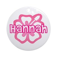 """Hannah Pink Hibiscus"" Ornament (Round)"