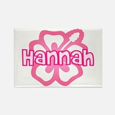 """""""Hannah Pink Hibiscus"""" Rectangle Magnet"""