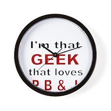 Im that Geek that loves PBJ Wall Clock