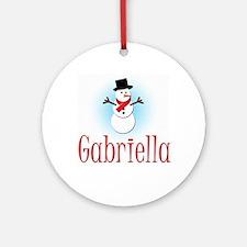 Snowman - Gabriella Ornament (Round)