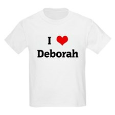 I Love Deborah Kids T-Shirt