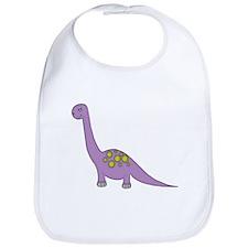 Purple Dinosaur 2 Bib
