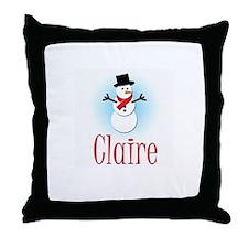 Snowman - Claire Throw Pillow