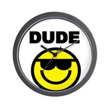 DUDE WITH SMILEY FACE Wall Clock
