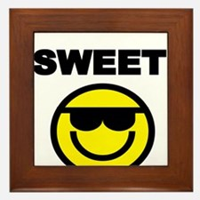 SWEET WITH SMILEY FACE Framed Tile