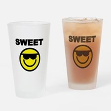 SWEET WITH SMILEY FACE Drinking Glass