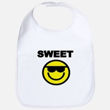 SWEET WITH SMILEY FACE Bib