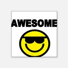 AWESOME WITH SMILEY FACE Sticker