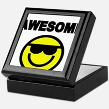 AWESOME WITH SMILEY FACE Keepsake Box