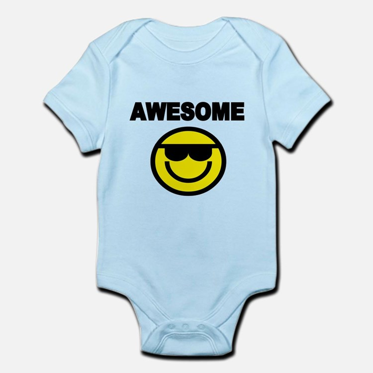 AWESOME WITH SMILEY FACE Body Suit