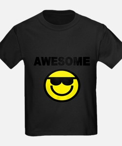 AWESOME WITH SMILEY FACE T-Shirt