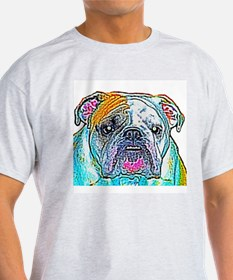 Bulldog in Color Ash Grey T-Shirt
