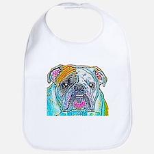 Bulldog in Color Bib