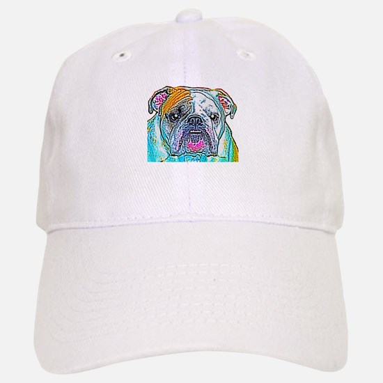 Bulldog in Color Baseball Baseball Cap