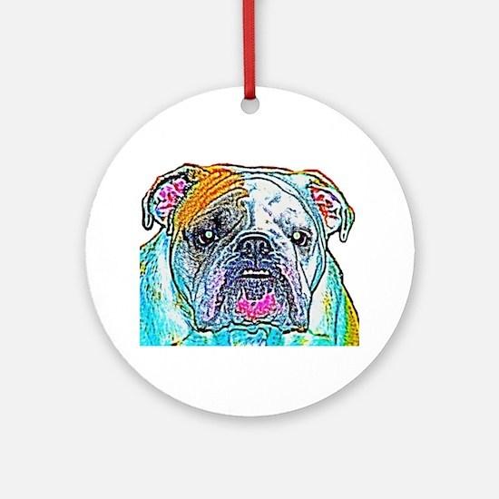 Bulldog in Color Ornament (Round)