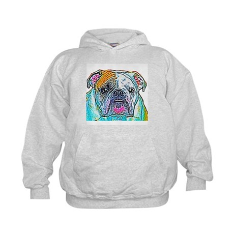 Bulldog in Color Kids Hoodie