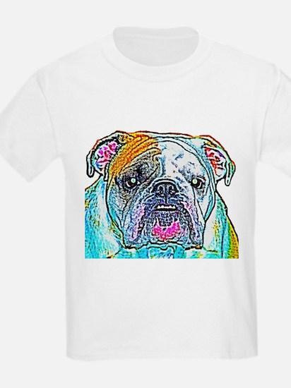Bulldog in Color Kids T-Shirt