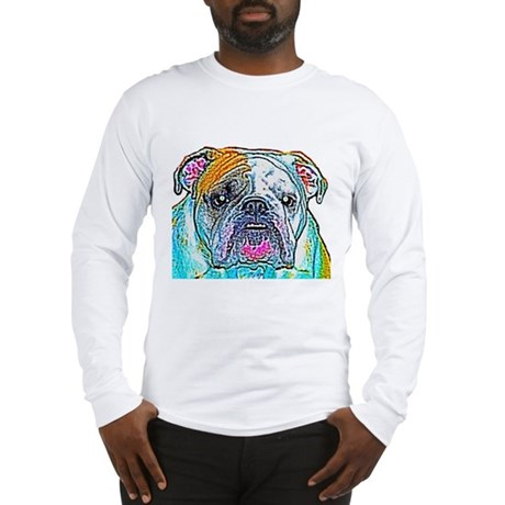 Bulldog in Color Long Sleeve T-Shirt
