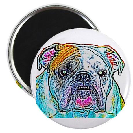 "Bulldog in Color 2.25"" Magnet (100 pack)"