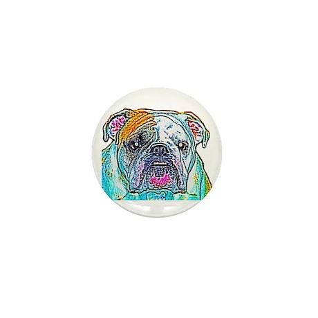 Bulldog in Color Mini Button (100 pack)