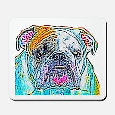 Bulldog in Color Mousepad