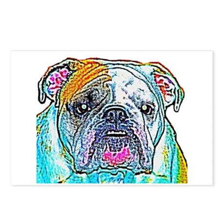 Bulldog in Color Postcards (Package of 8)