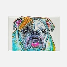 Bulldog in Color Rectangle Magnet