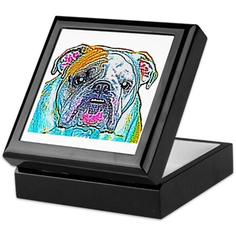 Bulldog in Color Keepsake Box