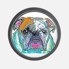 Bulldog in Color Wall Clock