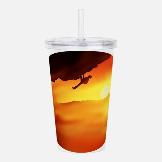 sunset climber Acrylic Double-wall Tumbler