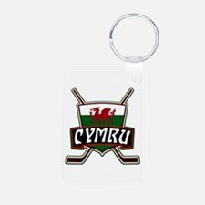 Wales Welsh Ice Hockey Shield Keychains