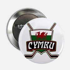 "Wales Welsh Ice Hockey Shield 2.25"" Button"