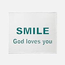 Smile Throw Blanket