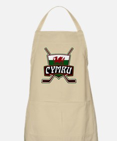 Wales Welsh Ice Hockey Shield Apron