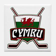 Wales Welsh Ice Hockey Shield Tile Coaster