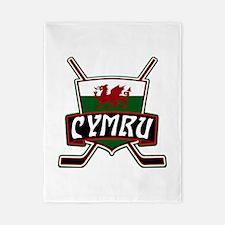 Wales Welsh Ice Hockey Shield Twin Duvet