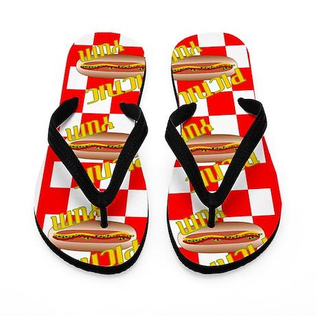 Picnic Hotdog Flip Flops