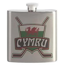 Wales Welsh Ice Hockey Shield Flask