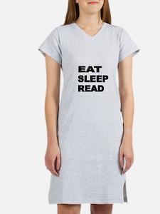 EAT SLEEP READ Women's Nightshirt