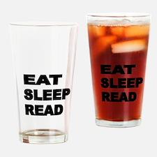 EAT SLEEP READ Drinking Glass