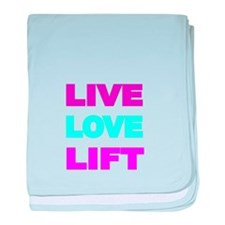 LIVE LOVE LIFT-COLOR baby blanket