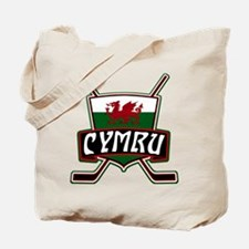 Wales Welsh Ice Hockey Shield Tote Bag