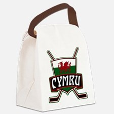 Wales Welsh Ice Hockey Shield Canvas Lunch Bag