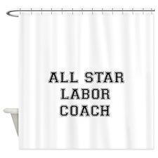 ALL STAR LABOR COACH-Black Shower Curtain